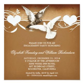 Vintage Liebevogel-Verlobungs-Party Einladungen