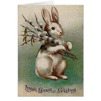 Vintage liebevolle Ostern-Gruß-Karte Grußkarte