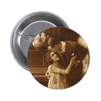 Vintage Liebhaber, Liebe-Romance romantische Musik Anstecknadel