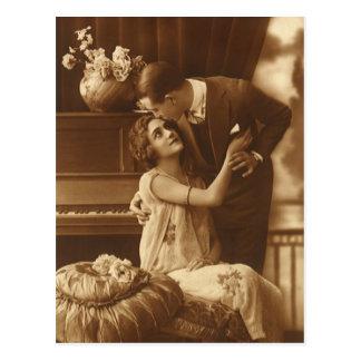 Vintage Liebhaber, Liebe-Romance romantische Musik Postkarte