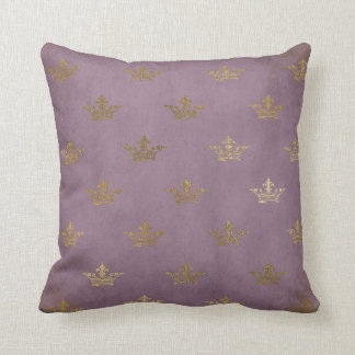 Vintage lila Kronen-Goldprinzessin Baby Pillow Kissen