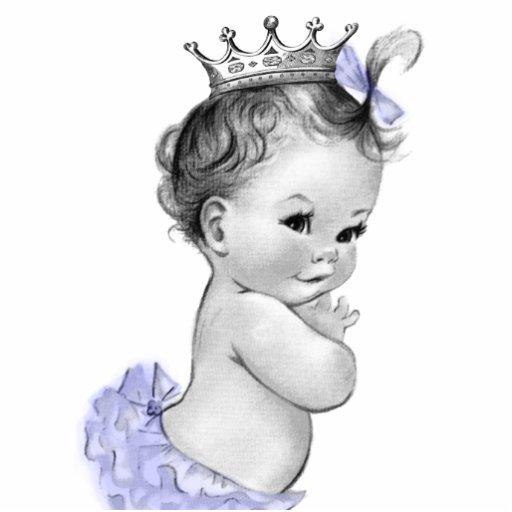 Vintage lila Mädchen-Dusche Prinzessin-Baby Fotostatuen