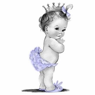 Vintage lila Mädchen-Dusche Prinzessin-Baby Freistehende Fotoskulptur