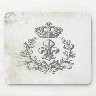 Vintage Lilie und Krone-Mausauflage Mousepad