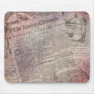Vintage London-Chronik-Zeitungs-Anzeigen Mauspad