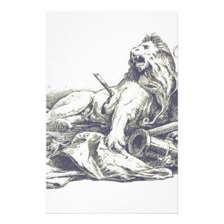 Vintage Löwe-Illustration Briefpapier