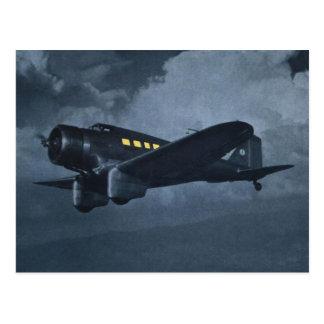 Vintage Luftfahrt-Flugzeug-Farbkunst Postkarte