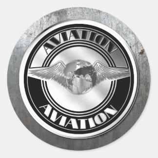 Vintage Luftfahrt-Kunst Runder Aufkleber