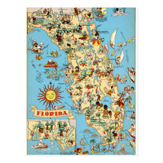 Vintage lustige Postkarte Floridas