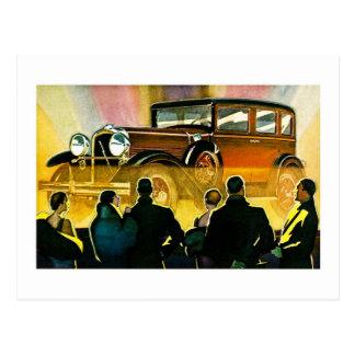 Vintage Luxusauto-Anzeige Postkarte