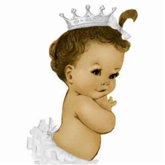 Vintage Mädchen-Dusche Elfenbein-Prinzessin-Baby Freistehende Fotoskulptur