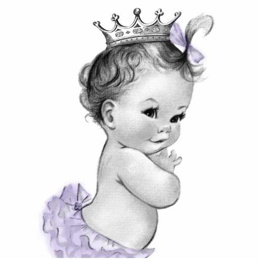 Vintage Mädchen-Dusche Lavendel-Prinzessin-Baby Fotoausschnitte