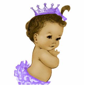Vintage Mädchen-Dusche Lavendel-Prinzessin-Baby Freistehende Fotoskulptur