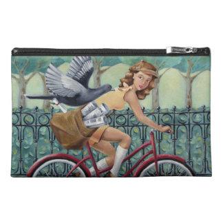 Vintage Mädchen-u. Fahrrad-Reise-Zusatz-Tasche Reisekulturtasche