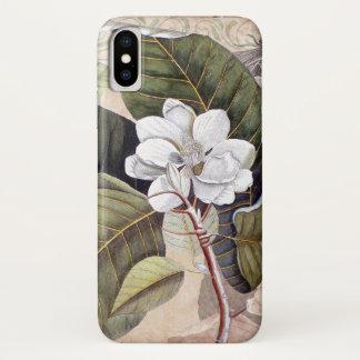 Vintage Magnolien-Antiken-botanische Collage iPhone X Hülle