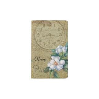 Vintage Magnolien-Blumen Moleskine Taschennotizbuch