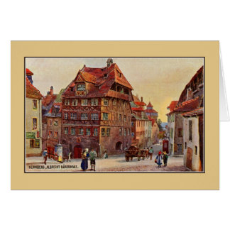 Vintage malende Nürnberg Albrecht Dürer Hauskunst Karte