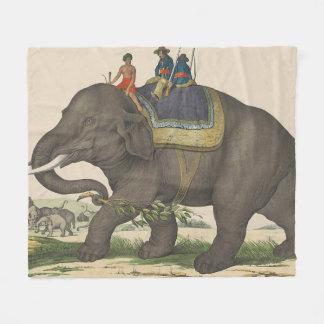 Vintage Malerei der Männer, die einen Elefanten Fleecedecke
