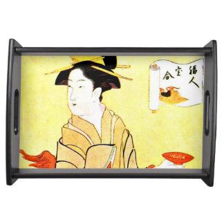 Vintage Malerei des japanischen Tabletts