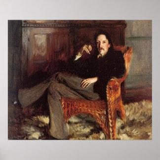 Vintage Malerei von Robert Louis Stevenson (1887) Poster