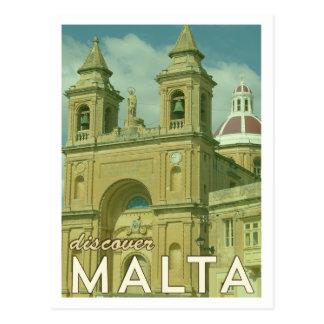 Vintage Malta-Postkarte Postkarte