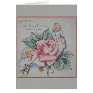 Vintage Mamma-Geburtstags-Gruß-Karte