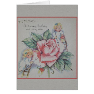 Vintage Mamma-Geburtstags-Gruß-Karte Grußkarte