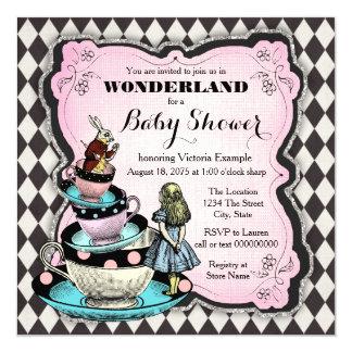Vintage Märchenland-Baby-Dusche Karte