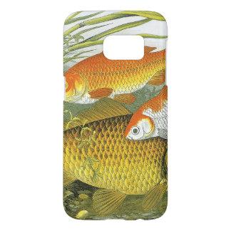 Vintage Marineseeleben-Fische, WasserGoldfish Koi