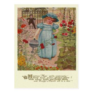 Vintage Mary, Mary-Reim Postkarte