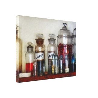 Vintage Medizin-Flaschen Leinwanddruck