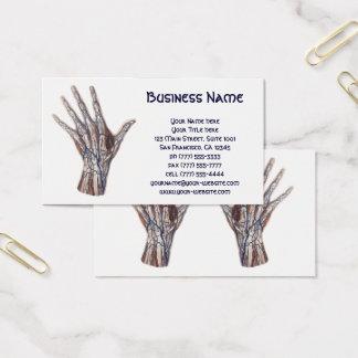 Vintage Medizin, menschliche Anatomie-Handfinger Visitenkarte