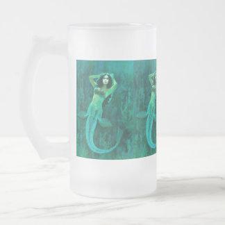 Vintage Meerjungfrau-mattierte Tasse