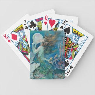 Vintage Meerjungfrau mit Perlen-Spielkarten Bicycle Spielkarten