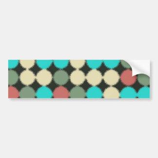 Vintage mehrfarbige Kreise. Geometrisches Muster Autoaufkleber