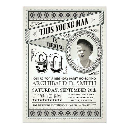 ... Vintage Meilenstein Geburtstags Einladungen Ihr Karte