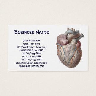 Vintage menschliche Anatomie-Herz-Organe gesund Visitenkarte