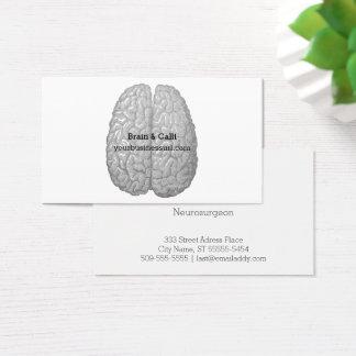 Vintage menschliches Gehirn-Illustration Visitenkarte