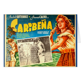 Vintage mexikanische Filmplakat-Grußkarte Grußkarte