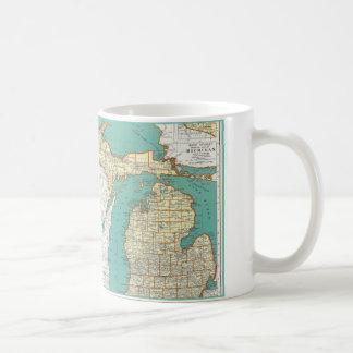 Vintage Michigan-Karte Kaffeetasse