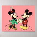 Vintage Mickymaus u. Minnie Poster