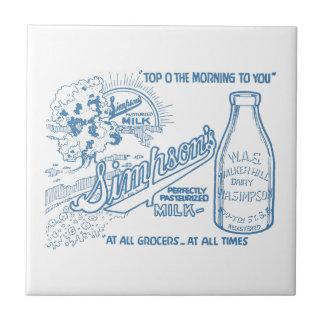Vintage Milch-Anzeige Fliese