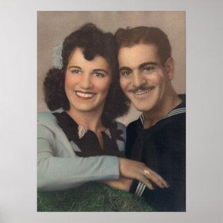 Vintage MilitärVerlobung Poster