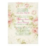 Vintage mit Blumenhochzeit der eleganten rosa Rose Individuelle Ankündigungen
