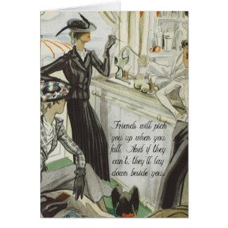 Vintage Mode-Anzeige:  Freundschaft Karte