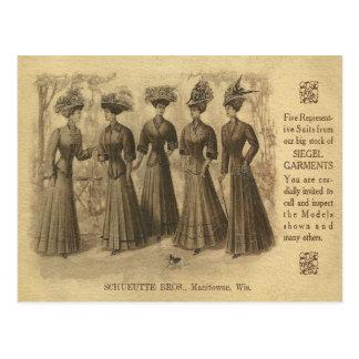 Vintage Mode-Anzeige Postkarte