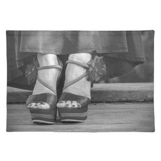 Vintage Mode-Fotografie Stofftischset