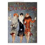 Vintage Mode-Weihnachtskarte Karten