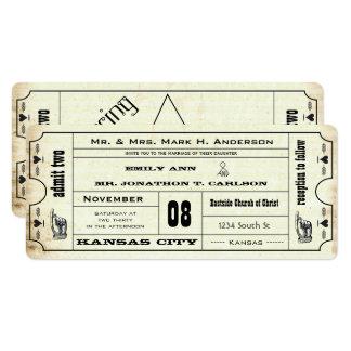 Vintage moderne Typografie-Karten-Hochzeit laden 10,2 X 23,5 Cm Einladungskarte