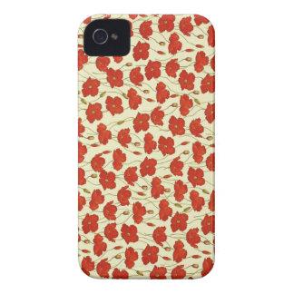 Vintage Mohnblumen-Tapete Case-Mate iPhone 4 Hülle